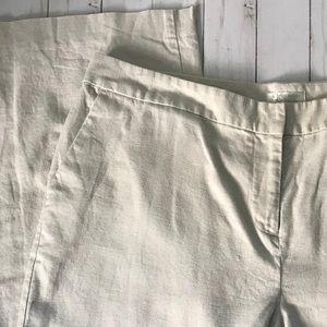 Christopher & Banks Linen Wide Leg Trousers Sz 16